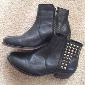 Nordstrom 14th & Union studded leather ankle boots